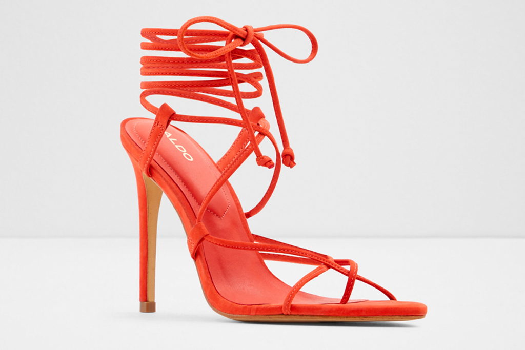 sandals, orange, heeled, thong-toe, aldo