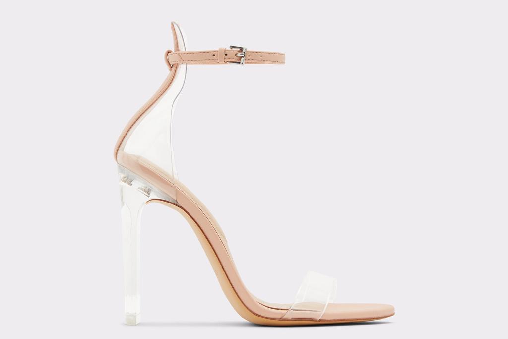 aldo, pvc, heels, sandals, clear