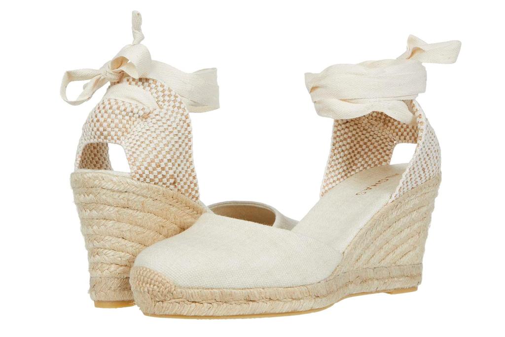 wedge, sandals, white, espadrille, tie, wrap, nude, platform, alohas