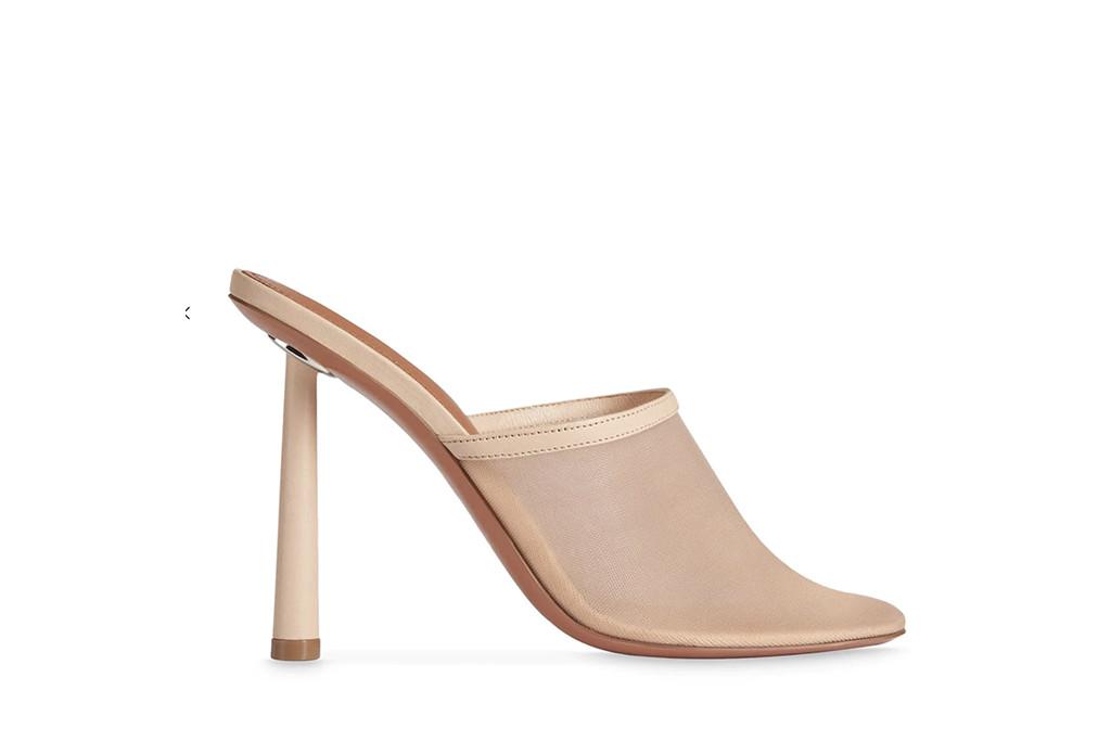 meshy mule, amina muaddi x fenty, heels