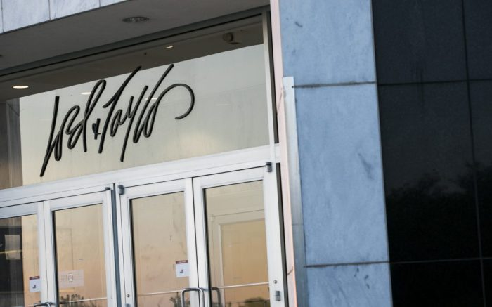 A logo sign outside of a Lord & Taylor retail store location in Sterling, Virginia on May 13, 2020. (Photo by Kristoffer Tripplaar/Sipa USA)(Sipa via AP Images)