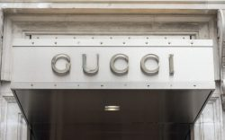 Gucci branding on their store in