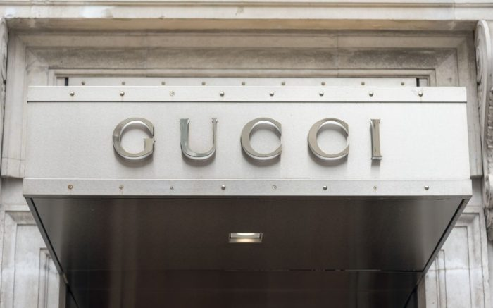 Gucci branding on their store in the prestigious Old Bond Street. (Photo by Dave Rushen / SOPA Images/Sipa USA)(Sipa via AP Images)