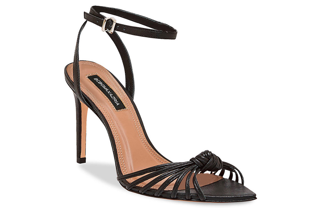 bcbg, heels, black, strappy