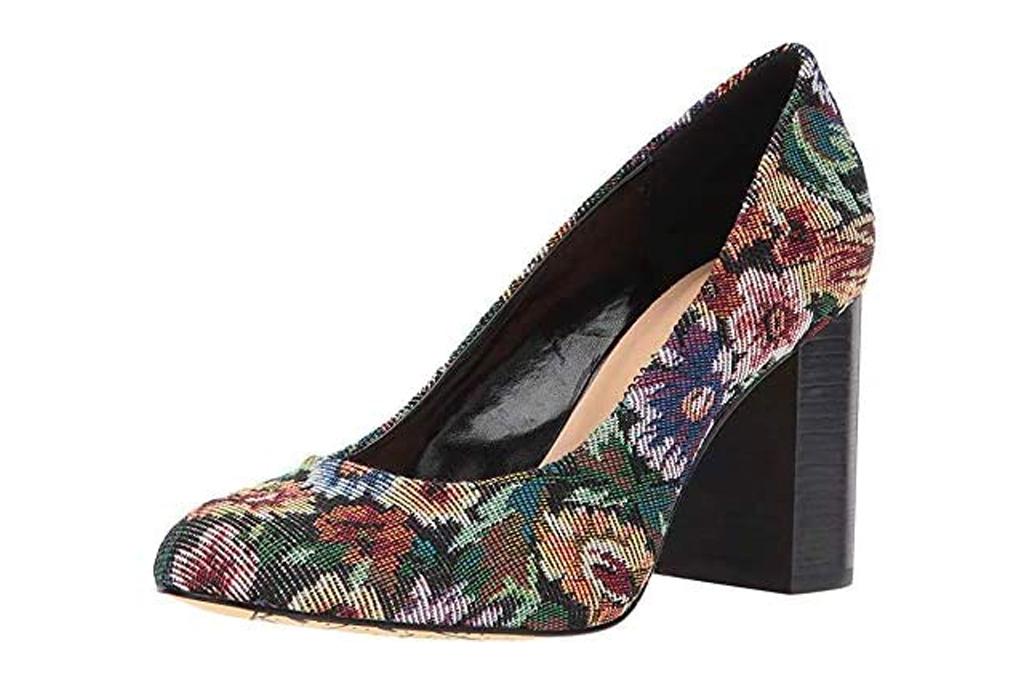 floral pumps, heels, bella vita