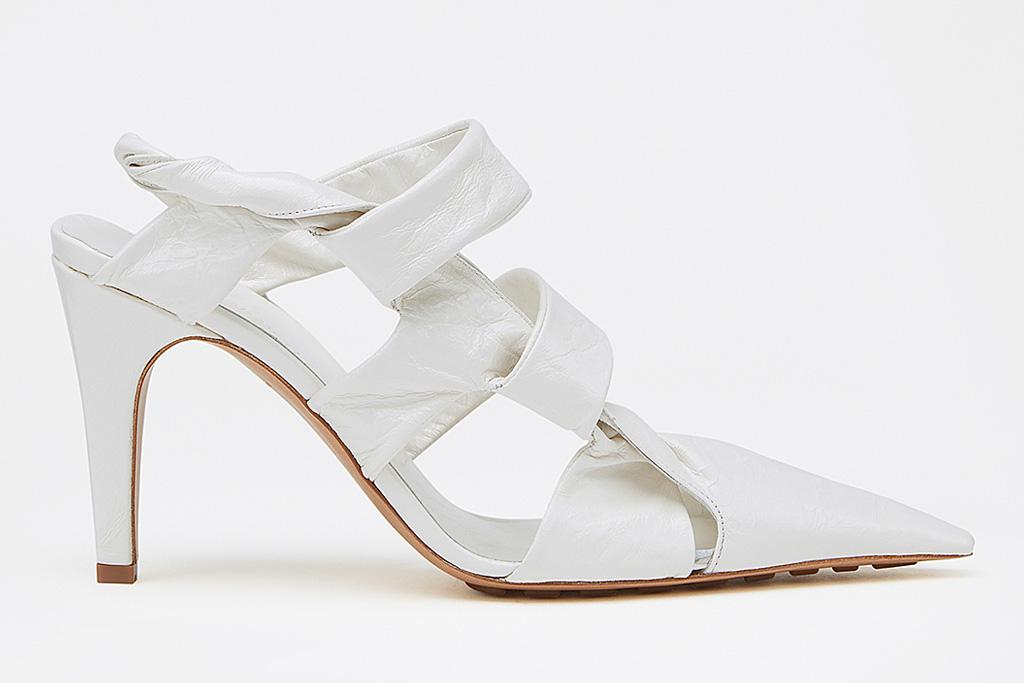 bottega veneta, bv point, pumps, white, twist, sandals