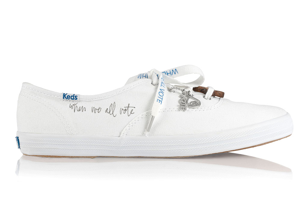 Keds, aurora james, brother vellies, vote sneakers
