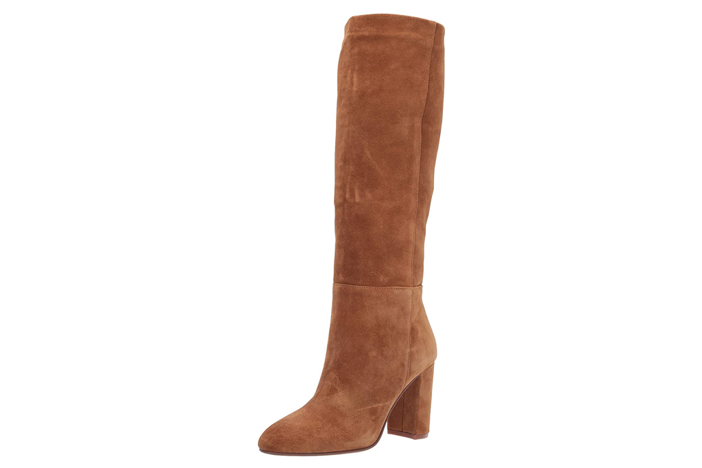 chinese laundry, boots, brown, suede