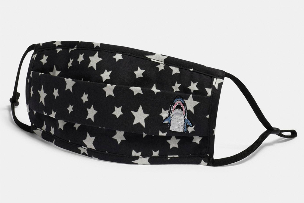 coach, face masks, mask, dinosaur, floral, stars, shark, unicorn, black, blue, yellow, red
