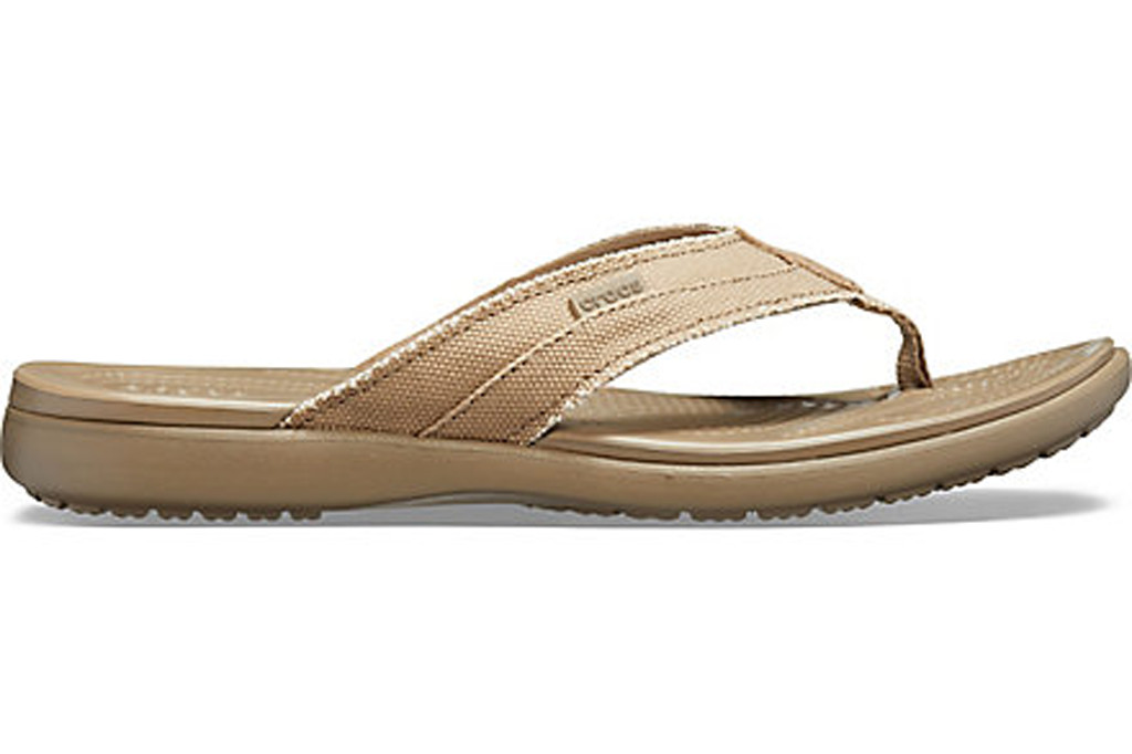 crocs sale, Men's Santa Cruz Canvas Flip, crocs