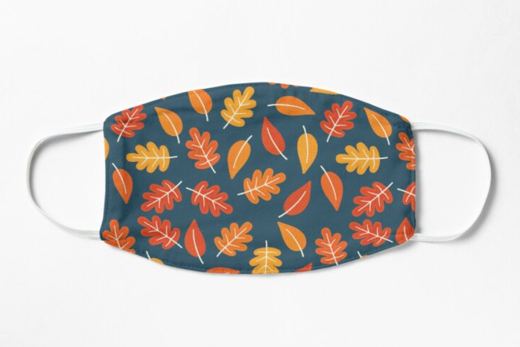 face mask, thanksgiving, leaves, turkey, fall, pumpkin, holiday