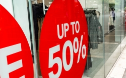 Sale Sign Sticker on Store Windows