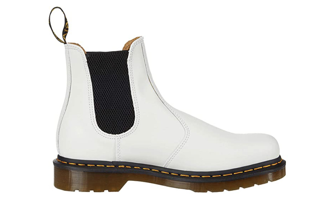 dr. martens chelsea boot, white dr. martens, white combat boot