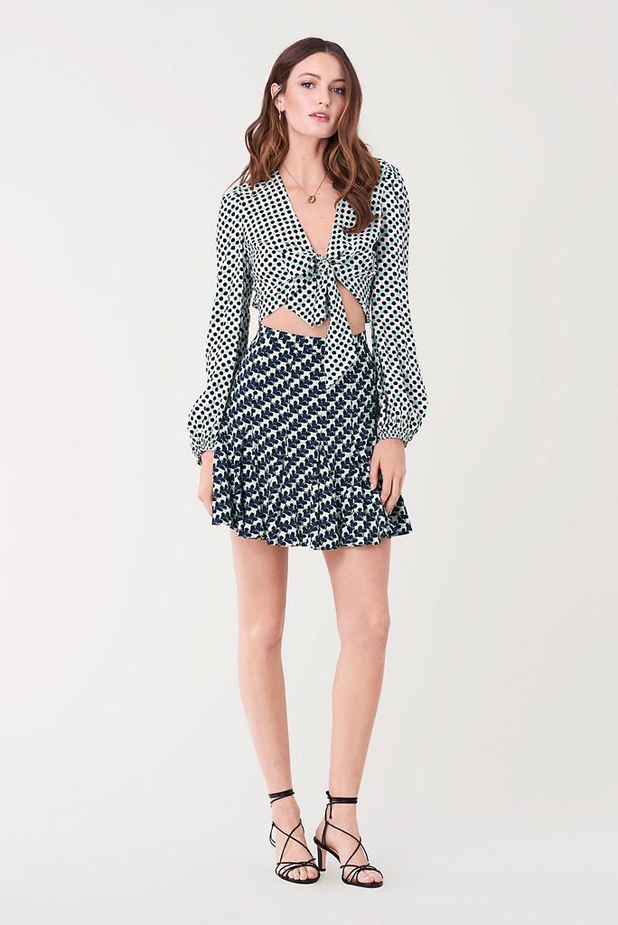 dvf sample sale, dvf tie blouse, dvf