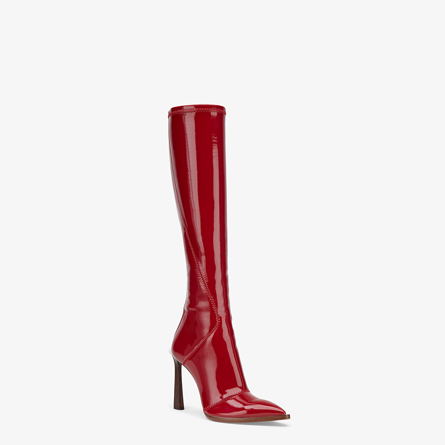 Fendi red boots