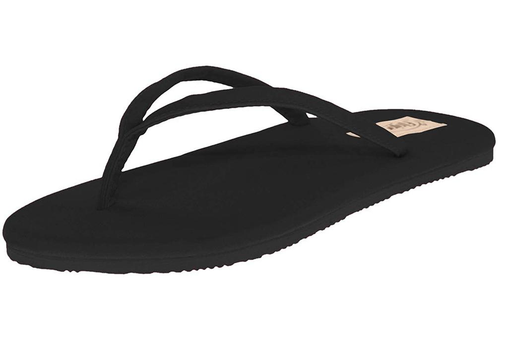 flip flops, black, sandals, flojos