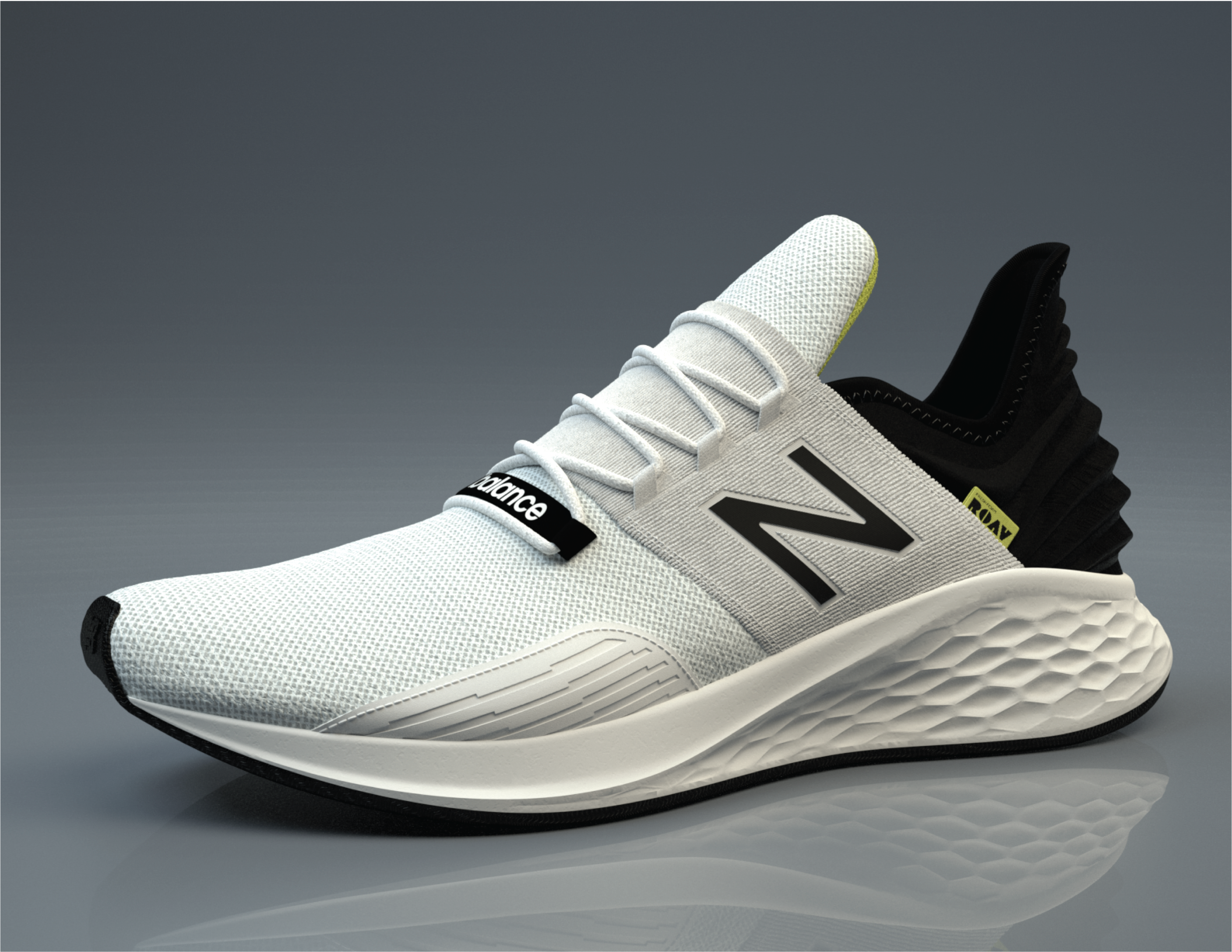 Rendering of New Balance sneaker with Foundry software