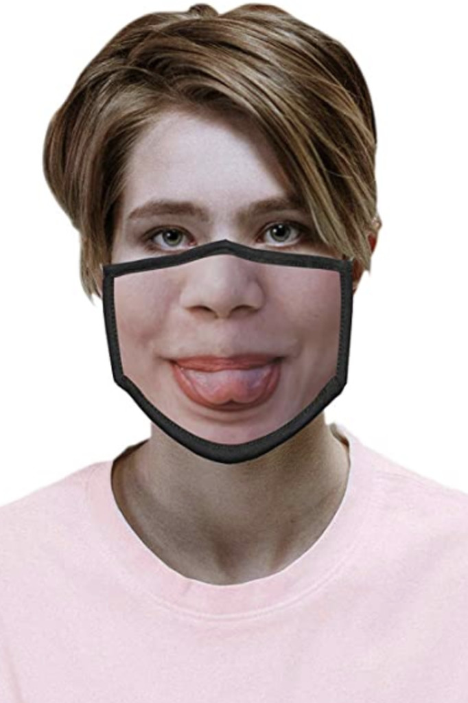 funny face mask, amazon, silly mask