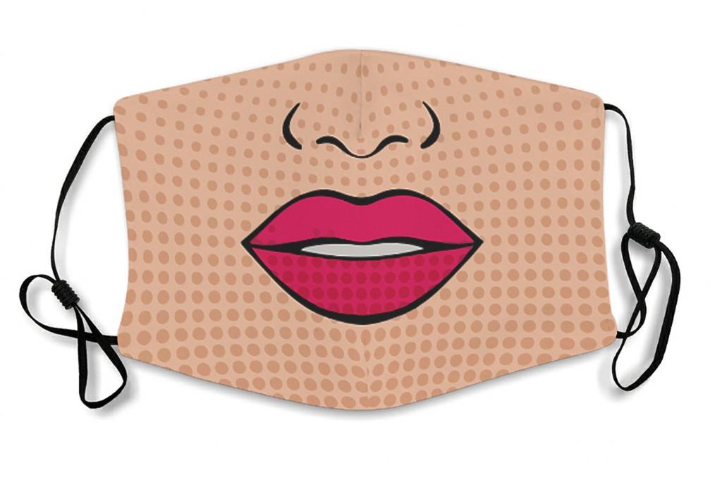 funny face mask, lip face mask, etsy face mask