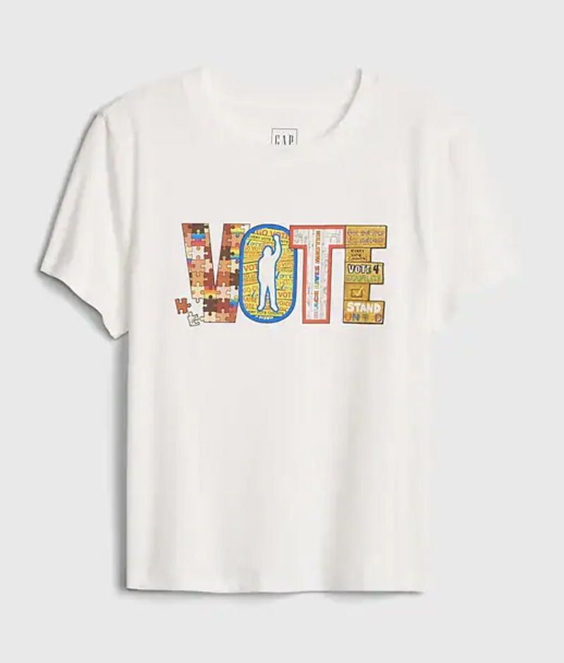 gap, vote, shirt, t-shirt