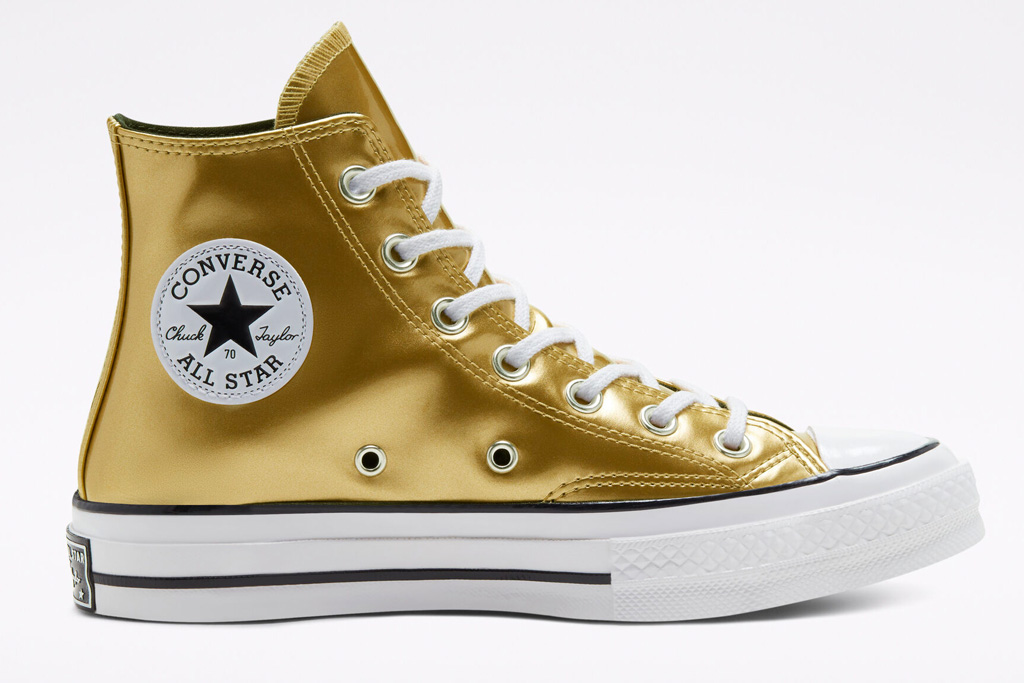 converse, sneakers, gold