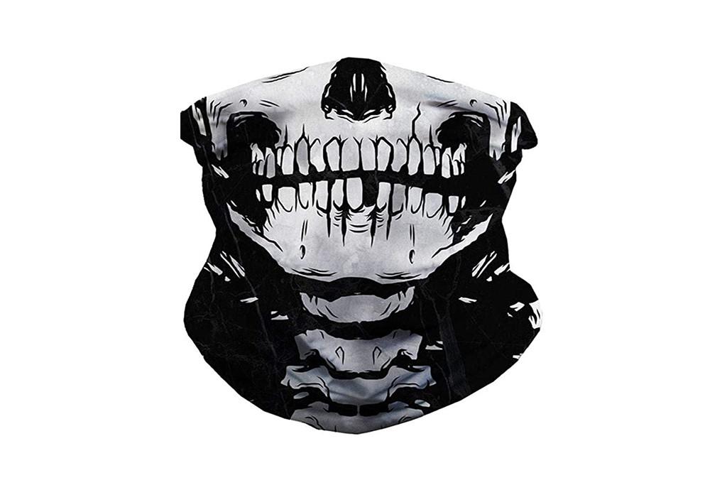 skull neck gaiter, halloween face mask, amazon