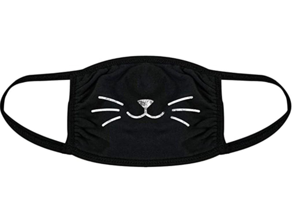 cat face mask, halloween face mask, amazon face mask