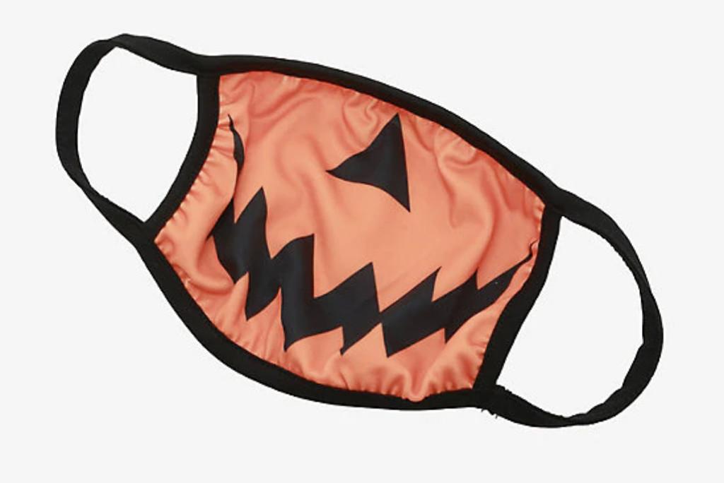 halloween face mask, pumpkin face mask, hot top face mask