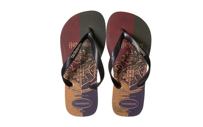 harry potter flip flops, harry potter x havianas, havianas