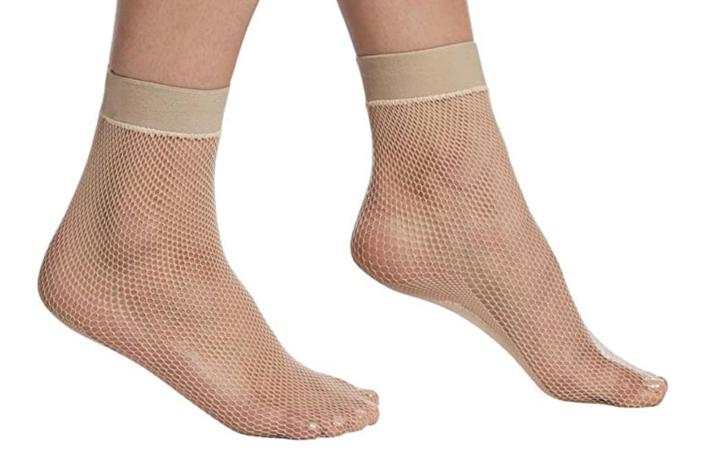 hue socks, fishnet socks, nude fishnet socks