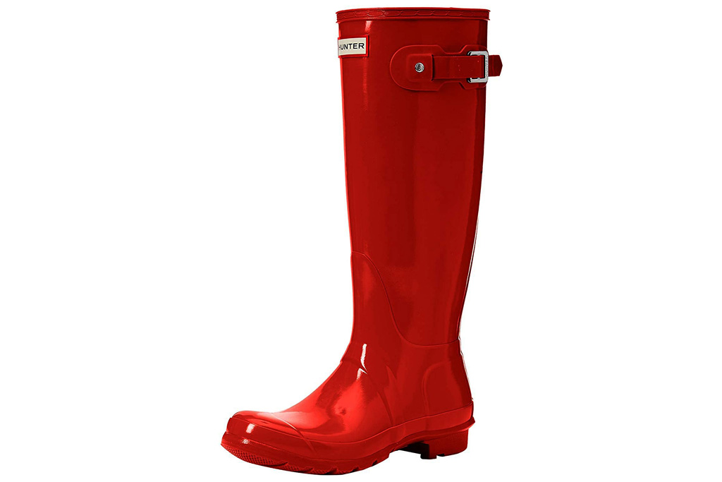 red boots, rain boots, hunter
