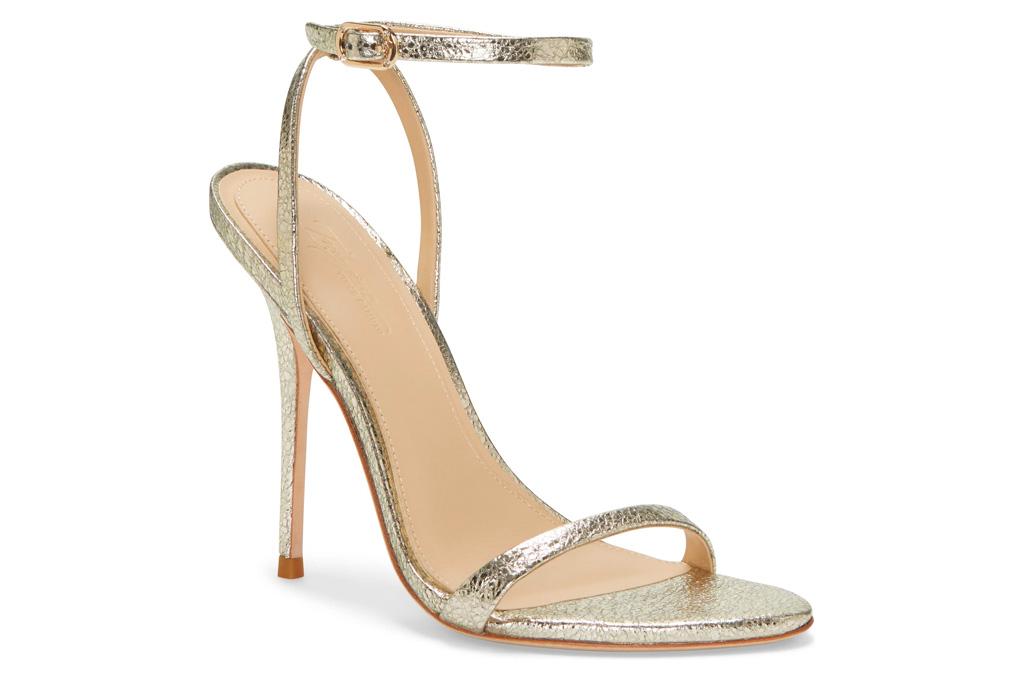 imagine, vince camuto, gold sandals, heel, stiletto, metallic