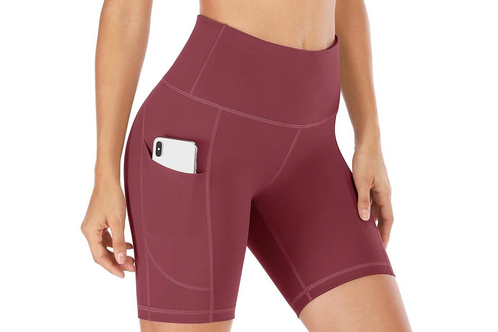 yoga shorts, best yoga shorts for women, biker shorts, shorts, amazon, iuga
