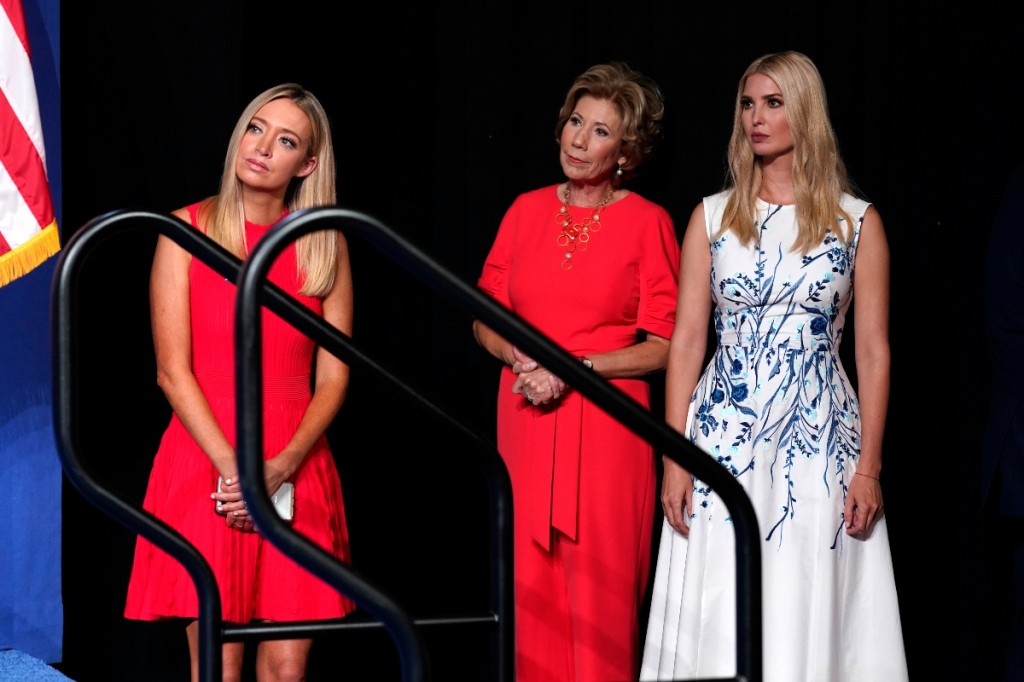 ivanka trump, rnc, republican national convention, dress, white, blue, lela rose