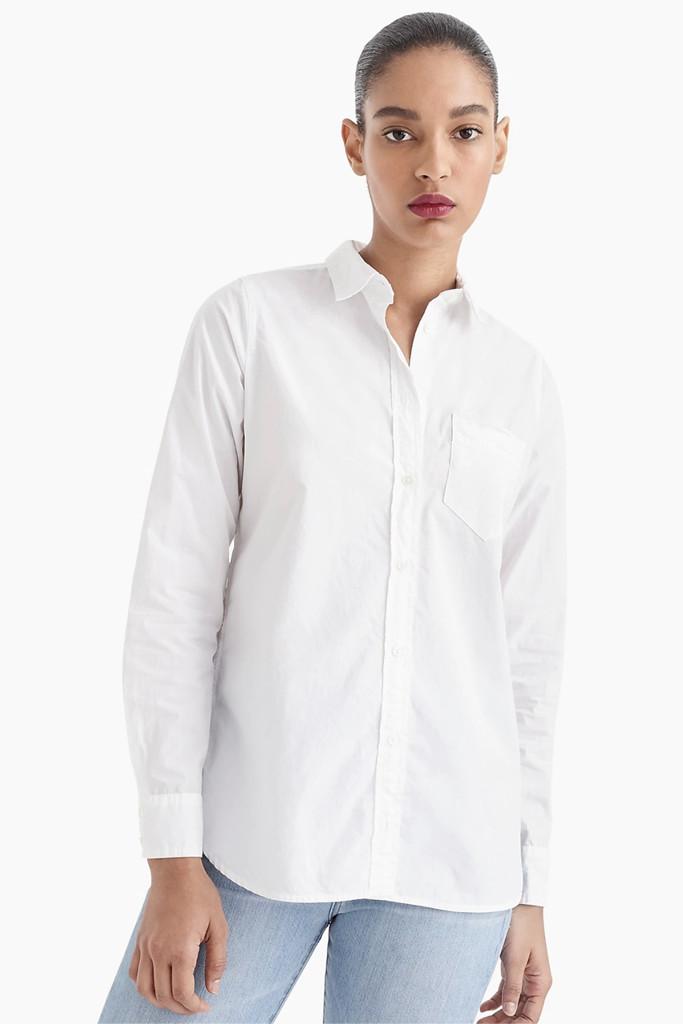 j crew shirt, meghan markle shirt, white collared shirt