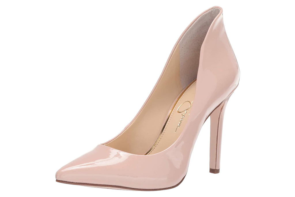 jessica simpson, pink, pumps, blush