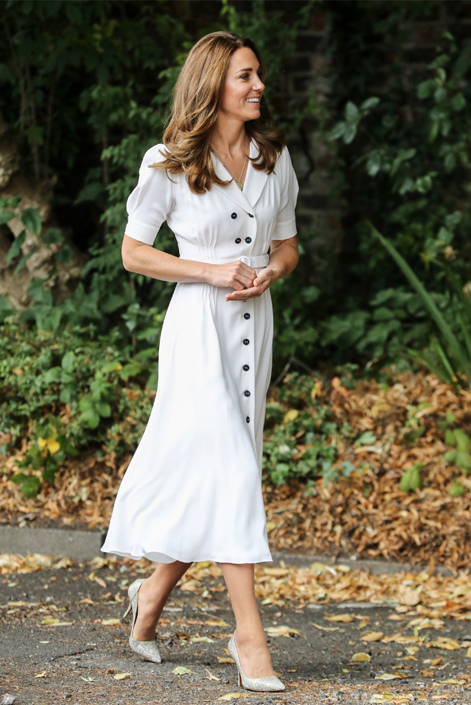 kate middleton, kate middleton white dress, kate middleton august 2020
