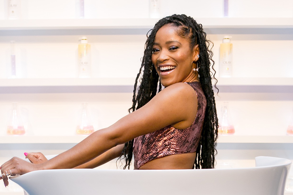 Keke Palmer has joined Olay as the beauty brand's new ambassador — and been put straight to work launching a new skincare range. The 26-year-old actress and singer is promoting the Olay Body Skincare-Inspired Collection. The collection boasts that it offers consumers high quality ingredients at affordable prices all below $10, including a 'first-of-its-kind' line of body washes with 'supercharged ingredients' (vitamin C, hyaluronic acid, and collagen), an in-shower Rinse-Off Body Conditioner, as well as a formula upgrade including Vitamin B3 Complex to Olay Body's best seller, Olay Ultra Moisture Body Wash. Keke said of the partnership: 'This year-long partnership with Olay Body means so much to me because for a long time, women like me weren't represented in the beauty industry, let alone many industries at all - and representation is so important. 'We are beautiful, confident and fearless - all the things that Olay Body represents. I'm also so pumped to be partnering with Olay Body on the launch of the Skincare-Inspired Collection because these supercharged body washes are so luxe with ingredients like collagen, vitamin C (a melanin must-have) and hyaluronic acid - and they're actually affordable! 'I think that beauty can be polarizing at times and with this new line, Olay Body has created something that's inclusive and accessible, but also formulated with luxe ingredients that are often at higher price points.'. 12 Feb 2020 Pictured: Keke Palmer has been announced as the new 2020 spokesperson for beauty brand Olay. Photo credit: Olay/ MEGA TheMegaAgency.com +1 888 505 6342 (Mega Agency TagID: MEGA608703_002.jpg) [Photo via Mega Agency]