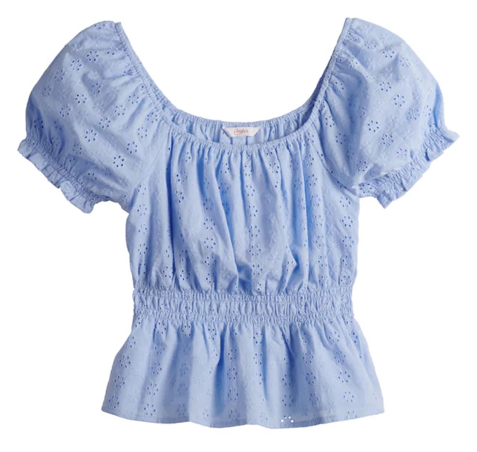 frilly blouse, Kohl's