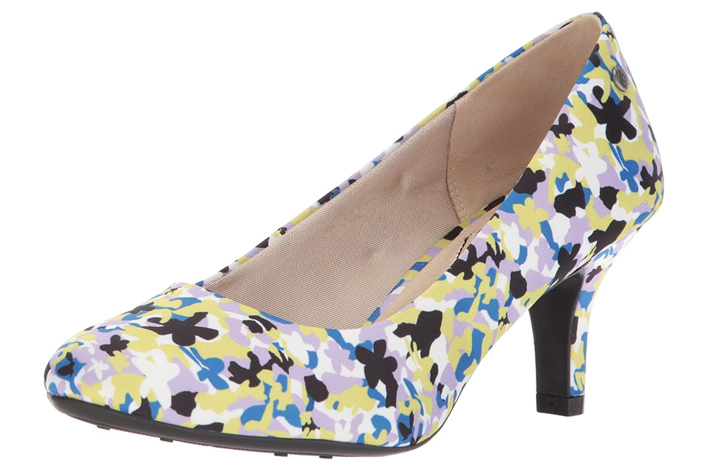 floral pumps, heels, lifestride