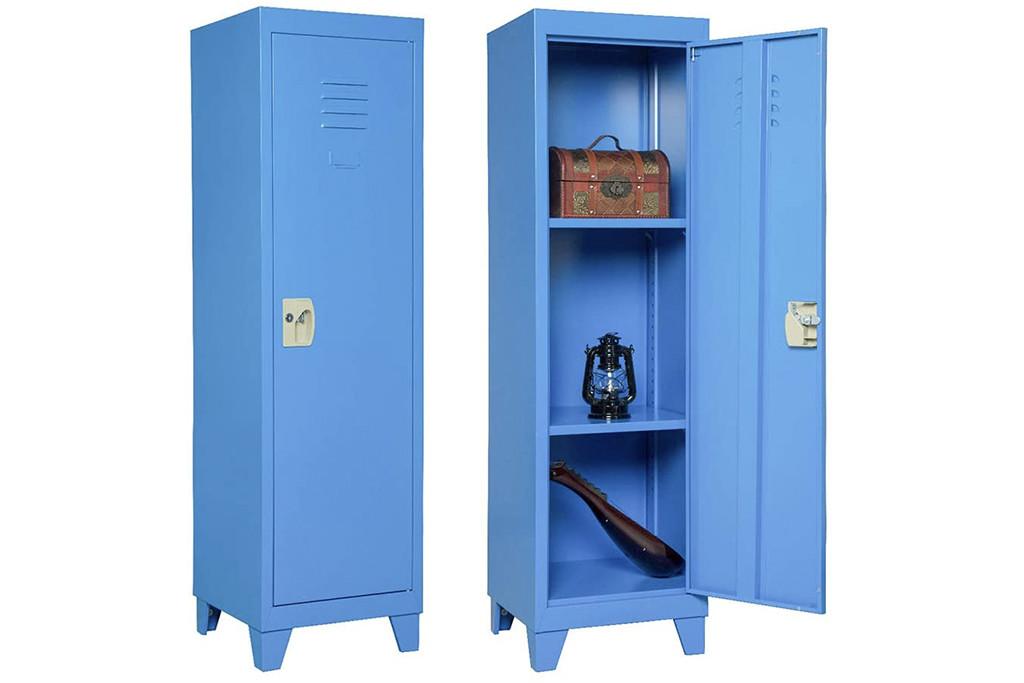 locker, kids locker, metal locker