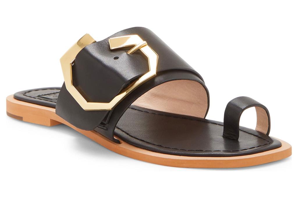 sandals, louise et cie, big toe sandals, black