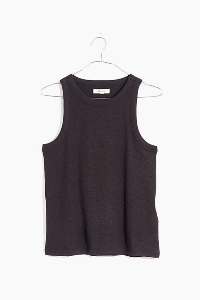 madewell tank, black tank, how to style dr. martens