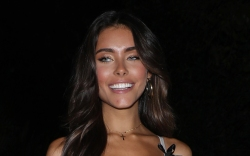 madison beer, style, shoes, sneakers, dress,