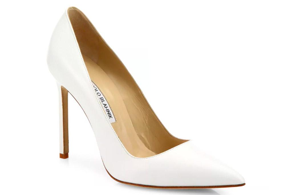 manolo blahnik, bb pumps, white, heels