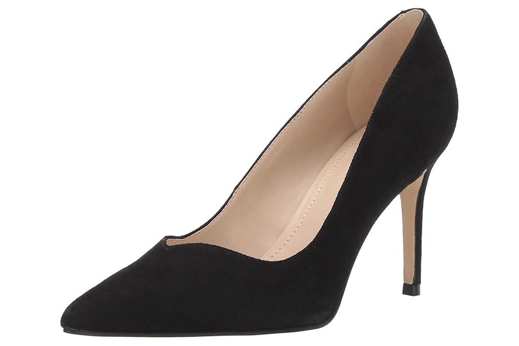 black pumps, suede, heels, marc fisher