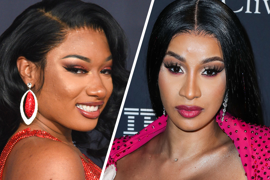Every Outfit In Cardi B Megan Thee Stallion S Wap Music Video Footwear News