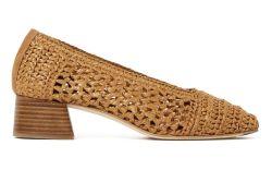 miista raffia shoe, ballet flat, raffia