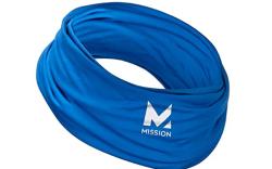 Mission, blue face mask, neck gaiter,