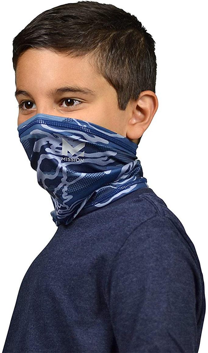 Mission, kids, face mask, neck gaiter, face covering